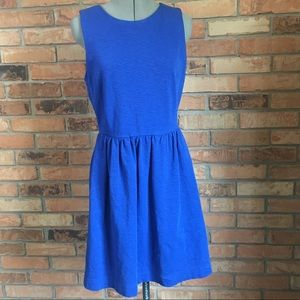 J.Crew A-line Blue Sleeveless Dress